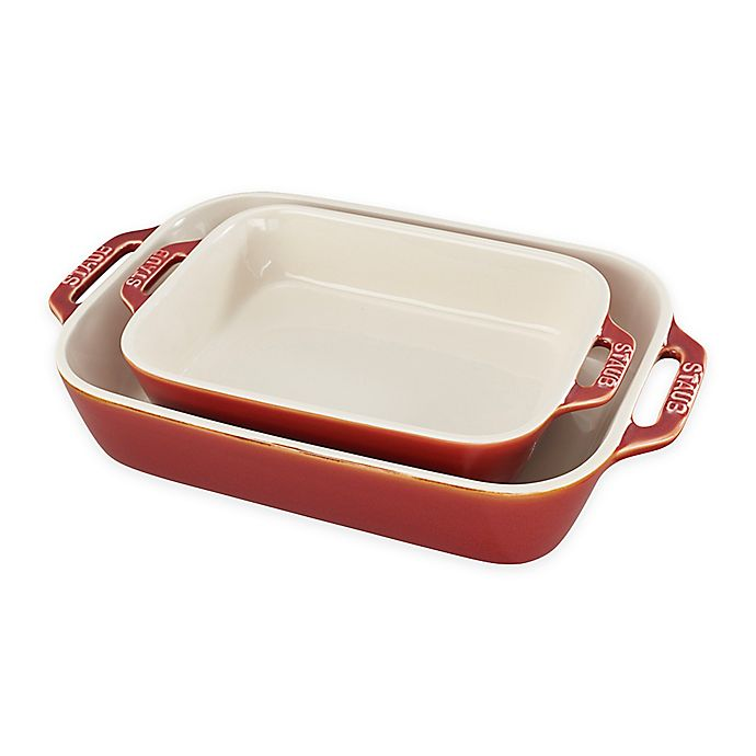 Alternate image 1 for Staub® 2-Piece Rectangular Baking Dish Set