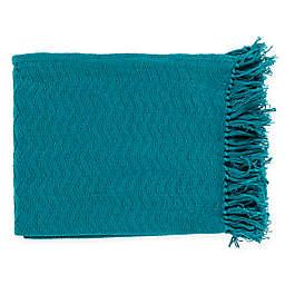 Surya Thelma Throw Blanket in Teal