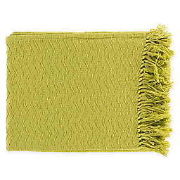 Surya Thelma Throw Blanket in Lime