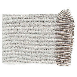Surya Madurai Throw Blanket in Taupe/White