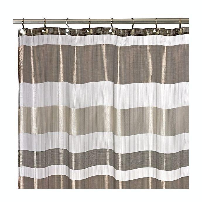 Metallic Stripe 72 Inch X Shower Curtain