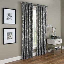 Dogwood Blossom Rod Pocket Room Darkening Window Curtain Panel (Single)