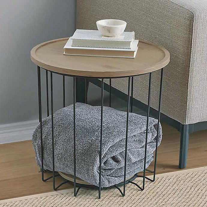 Weybridge Storage Side Table In Grey Bed Bath Beyond