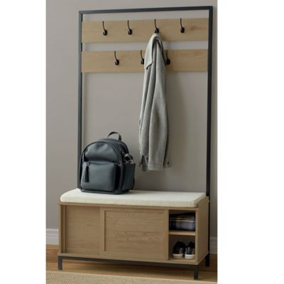 Weybridge Entryway Storage Hall Tree In Griege Bed Bath