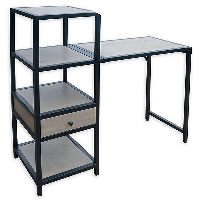 Alternate image 1 for Weybridge Collection Bookcase Folding Desk in Greige