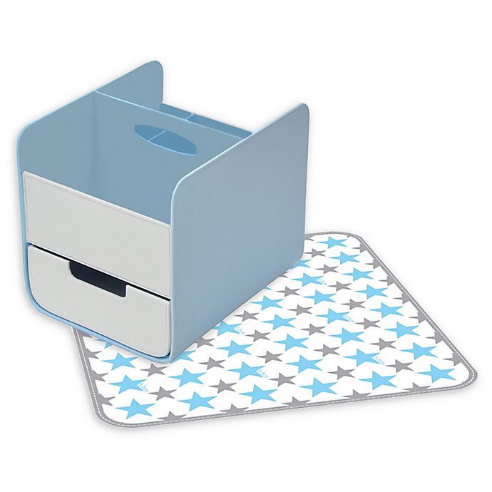 Alternate image 1 for b.box® 2-Piece Diaper Changing Station in Blue Lagoon