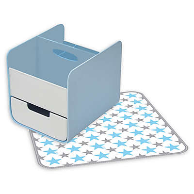 b.box® 2-Piece Diaper Changing Station in Blue Lagoon