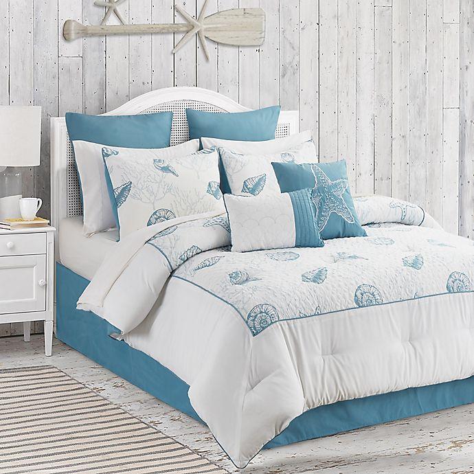 Alternate image 1 for Anthia 12-Piece King Comforter Set in Blue/White