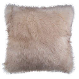 Faux Fox Fur Square Throw Pillow
