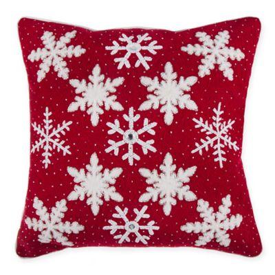 Snowflake 20 inch Throw Pillow