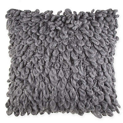 Sawyer Loop Square Throw Pillow in Grey