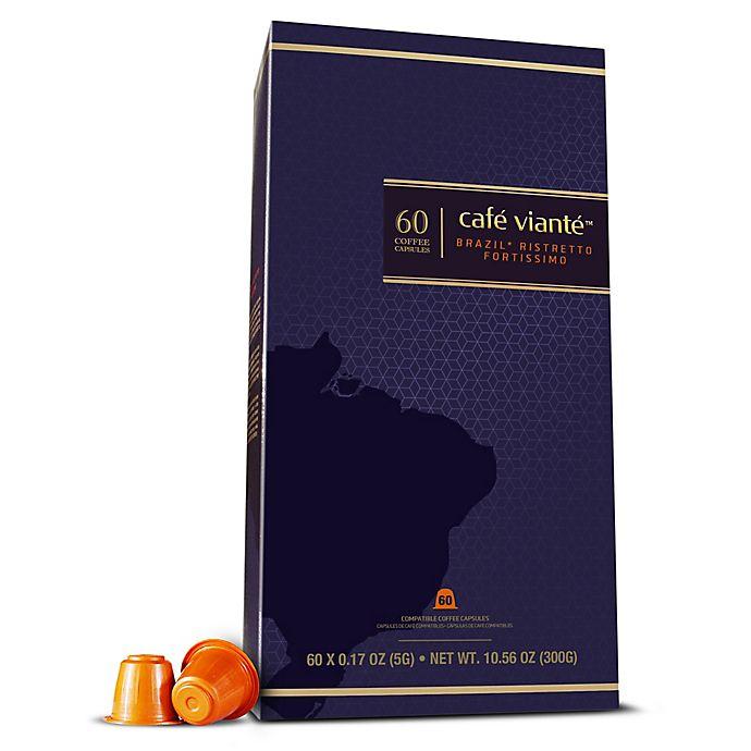 Alternate image 1 for Café Vianté® 60-Count Brasil Ristretto Fortissomo Espresso Capsules