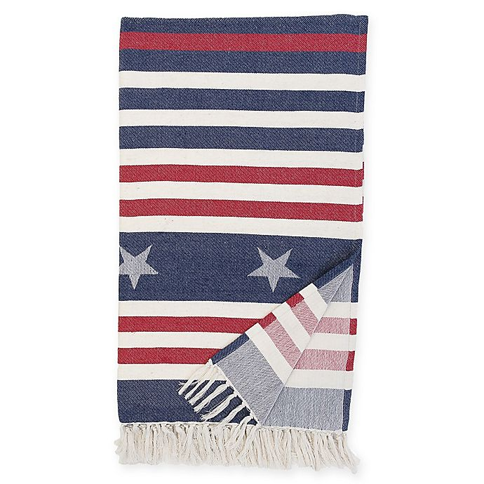 Alternate image 1 for Stars and Stripes Throw Blanket in Blue/Red
