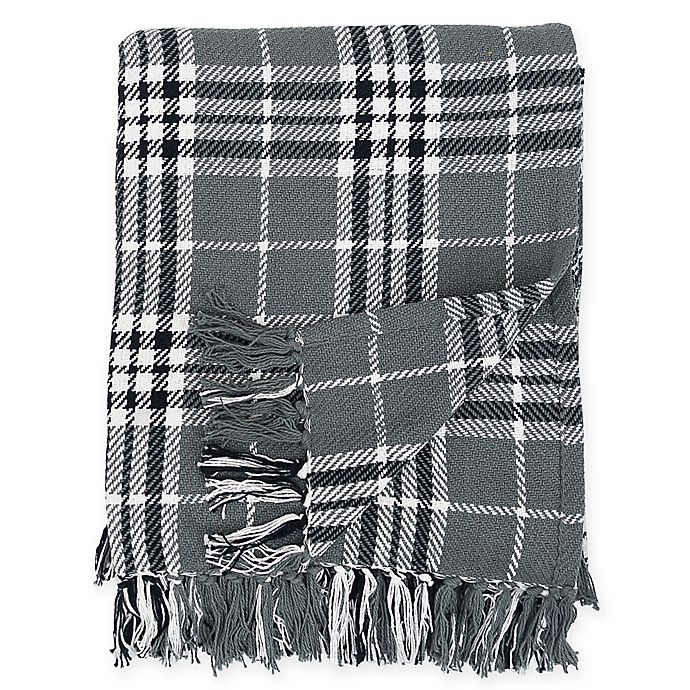 Alternate image 1 for Max Plaid Cotton Throw Blanket