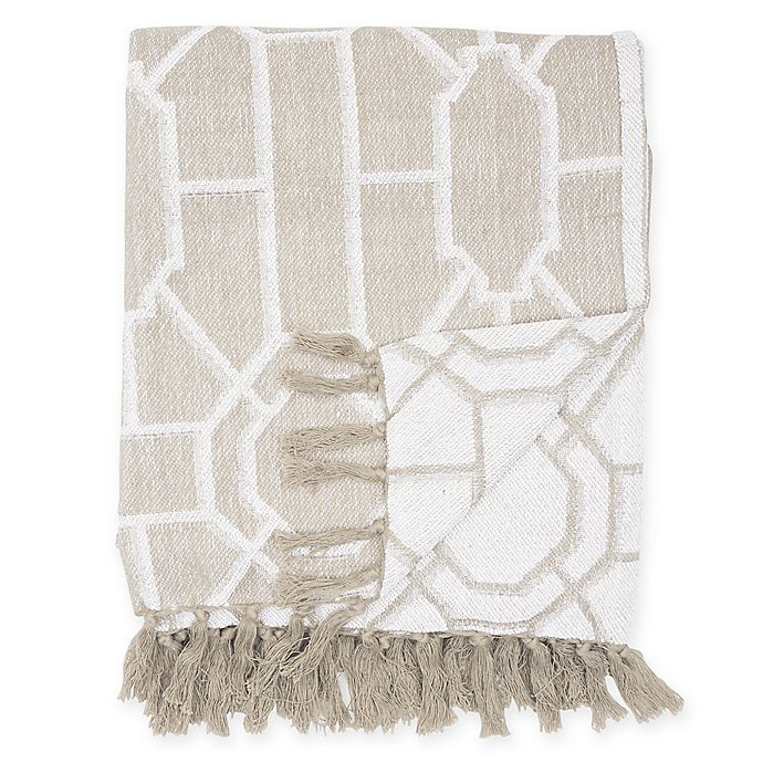 Alternate image 1 for Trellis Cotton Throw Blanket
