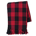 Franklin Buffalo Check Cotton Throw Blanket in Red/Black