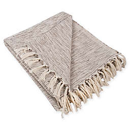 Variegated Fringe Throw Blanket