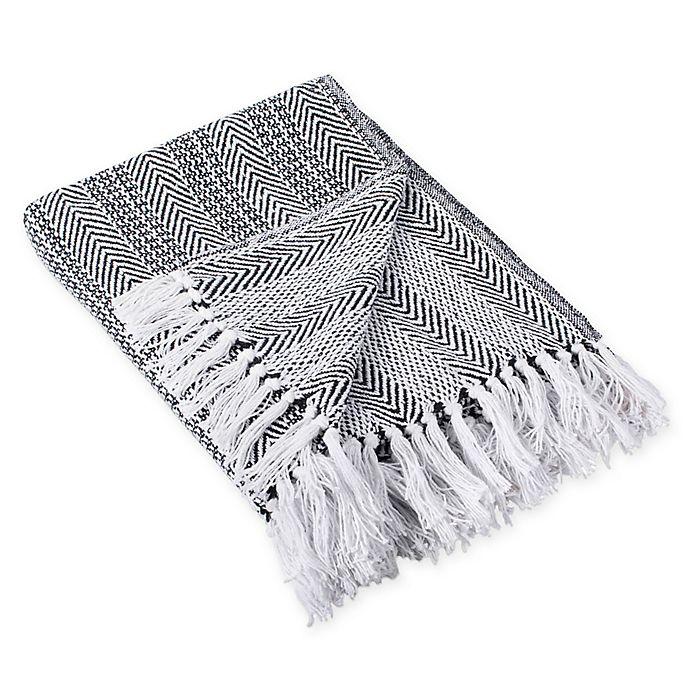 Alternate image 1 for Herringbone Stripe Throw Blanket