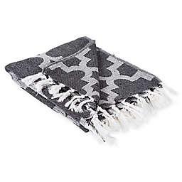 Lattice Throw Blanket in Black