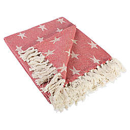 Star Throw Blanket in Red
