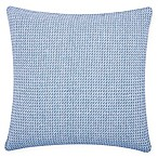 Carol & Frank Langford Square Throw Pillow in Blue