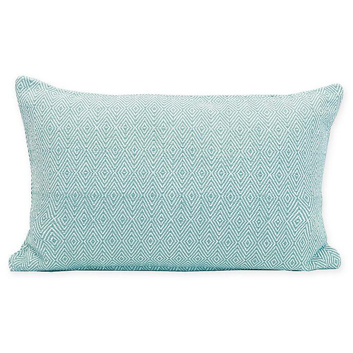 Alternate image 1 for Carol & Frank Blake Oblong Throw Pillow in Lagoon