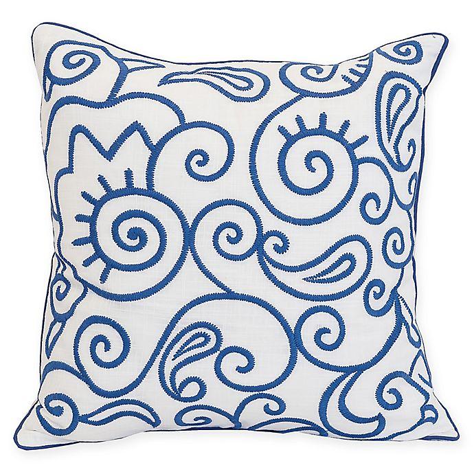 Alternate image 1 for Carol & Frank Indigo Swirl Square Throw Pillow