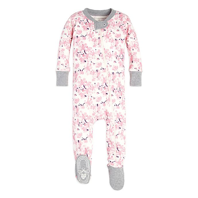 39ab1888c98a Burt s Bees Baby® Waterlily Footed Pajama in Pink