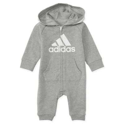 ecf75d68d adidas® Hooded Coverall in Grey   buybuy BABY