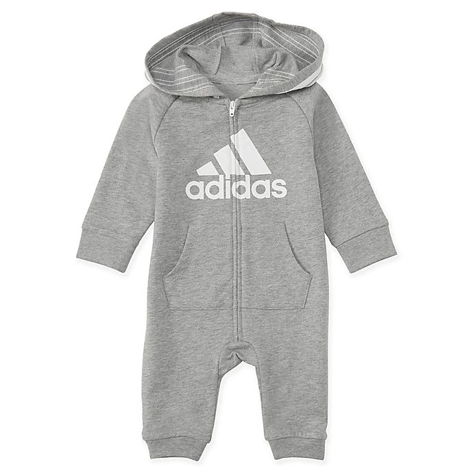 Alternate image 1 for adidas® Hooded Coverall in Grey