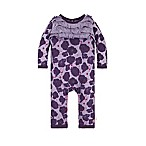 Burt's Bees Baby® Size 3-6M Watercolor Poppies Ruffled Coverall in Purple