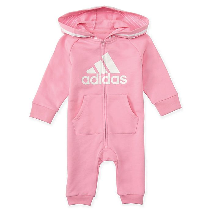 Alternate image 1 for adidas® Hooded Coverall in Pink