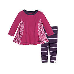 Burt's Bees Baby® Scattered Butterflies Tunic and Legging Set in Pink