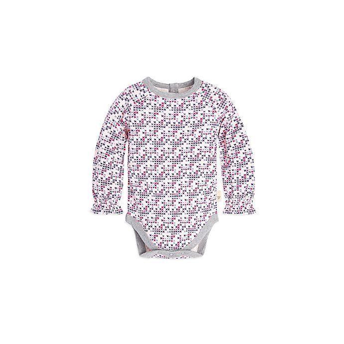 Alternate image 1 for Burt's Bees Baby® Micro Cross Stitch Bodysuit