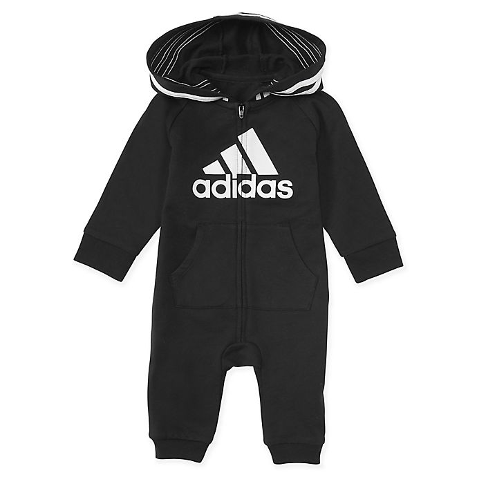 Alternate image 1 for adidas® Hooded Coverall in Black
