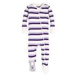 dca8b4ccb1b Burt s Bees Baby® Organic Cotton Striped Footie in Purple Pink