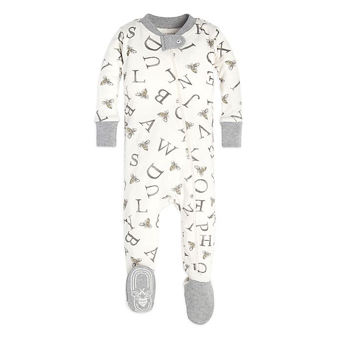 93adb357e05 Burt s Bees Baby® Size 6-9M A-Bee-C Footie in Ivory