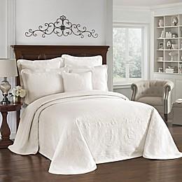 King Charles Matelasse Pillow Sham in Ivory