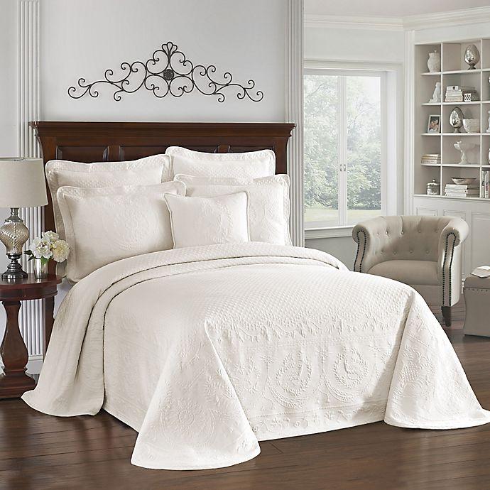 King Charles Matelasse Bedspread In Ivory Bed Bath Amp Beyond