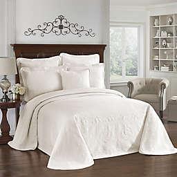 King Charles Matelasse Bedspread in Ivory