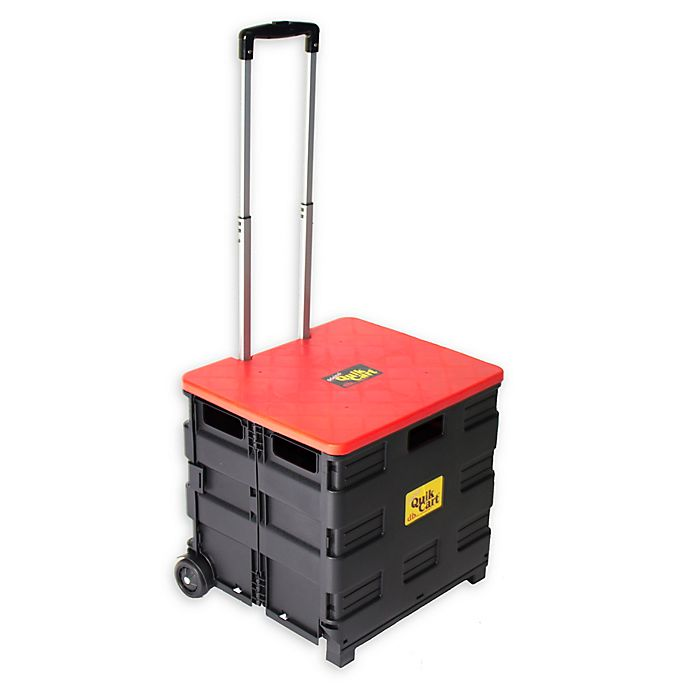 Alternate image 1 for Quik Cart® Handcart with Lid in Grey/Red