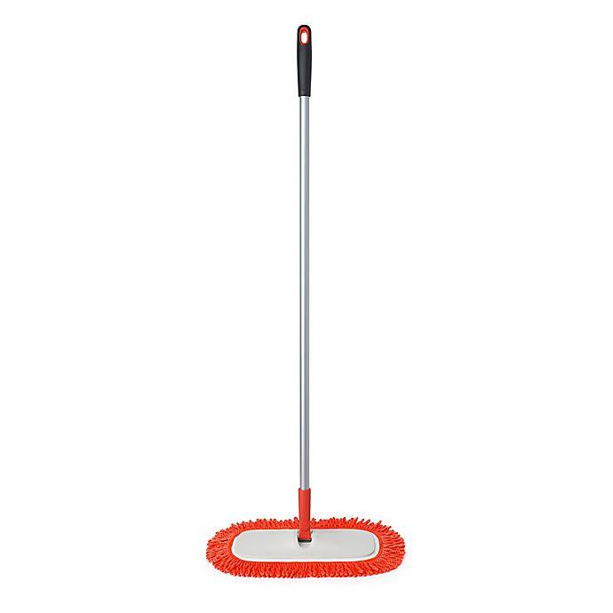 Alternate image 1 for OXO Good Grips® Microfiber Floor Duster in Orange