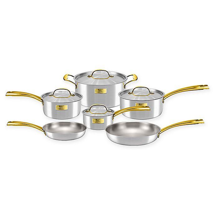 Alternate image 1 for Fleischer & Wolf® London Tri-Ply Stainless Steel 10-Piece Cookware Set