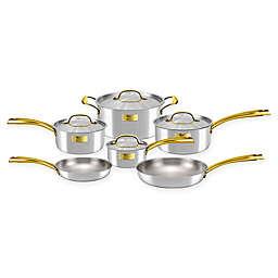 Fleischer & Wolf® London Tri-Ply Stainless Steel 10-Piece Cookware Set