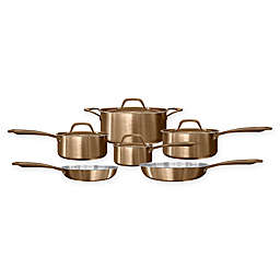 Fleischer & Wolf® Rome Tri-Ply 10-Piece Cookware Set in Copper