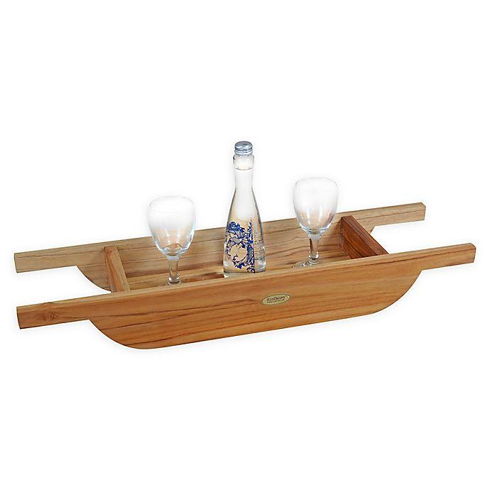 Alternate image 1 for EcoDecors® Teak Wood Bath Caddy