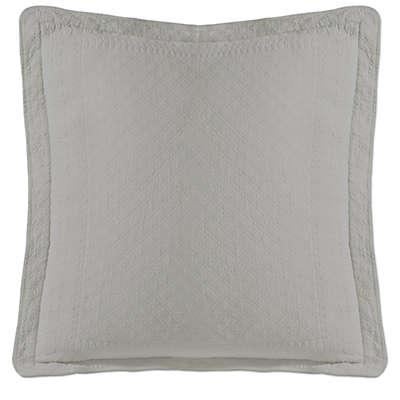 Historic Charleston Collection Matelasse European Pillow Sham  in Grey