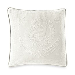 Historic Charleston Collection Matelasse 20-Inch Square Pillow in White