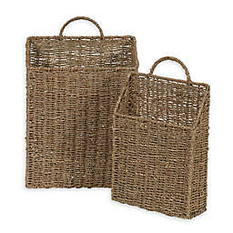 Household Essentials® Rectangular Wicker Wall Baskets (Set of 2)
