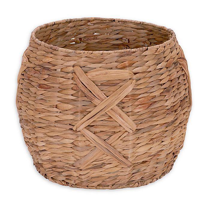 Alternate image 1 for Household Essentials® X-Weave Round Wicker Floor Basket